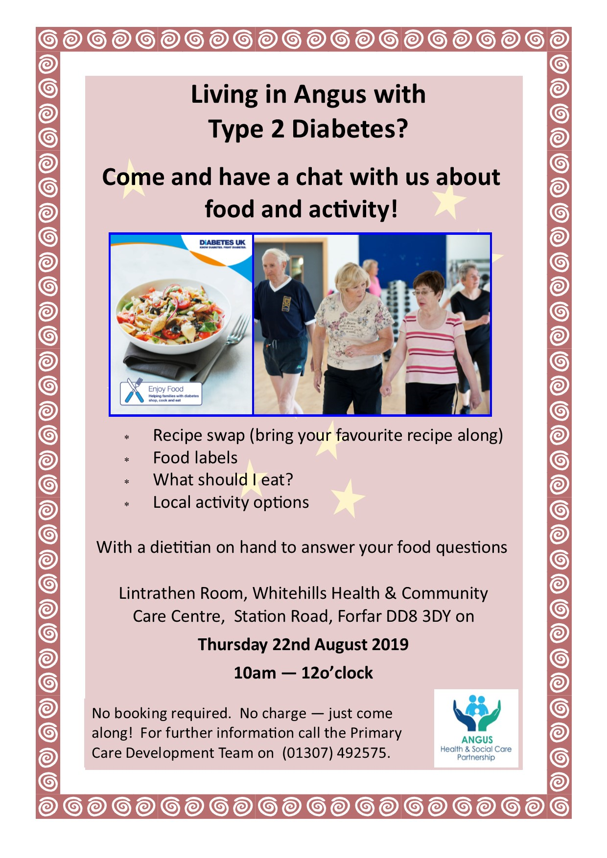 Living in Angus with Type 2 Diabetes Thursday 22nd August 2019